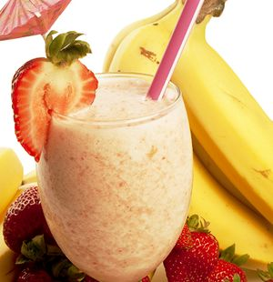 Milkshake cu banane si ciocolata