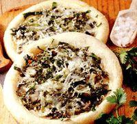Pizza cu spanac si ciuperci