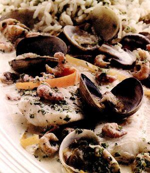 Ciuperci cu creveti si cuscus