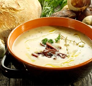 Supa de telina cu ciuperci