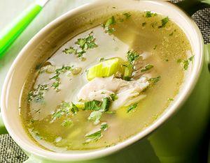 Supa de pui cu praz in foitaj