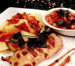 Pui_cu_sos_si_cartofi
