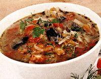 Supa de varza si ardei gras rosu