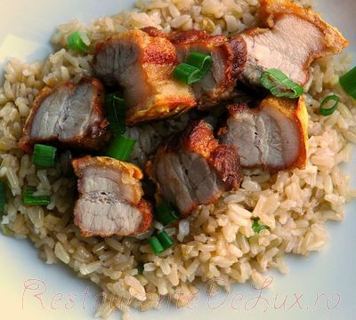 Burta de porc cu orez