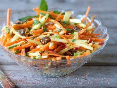 Salata de morcovi cu mere si stafide