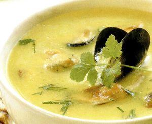Supa crema de midii cu legume