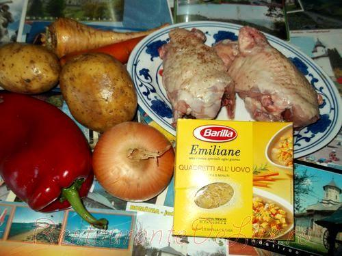 Supa de cartofi cu paste quadretti