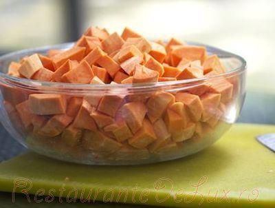 Supa de cartofi dulci cu creveti