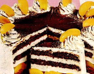 Tort cu ciocolata si caise
