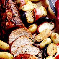 Muschiulet de porc cu cartofi noi