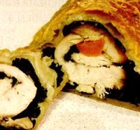 Herby chicken roulade
