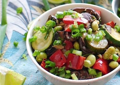 Sote de legume si orez cu aroma de nuca de cocos