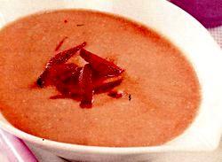 Supa crema de sfecla cu unt