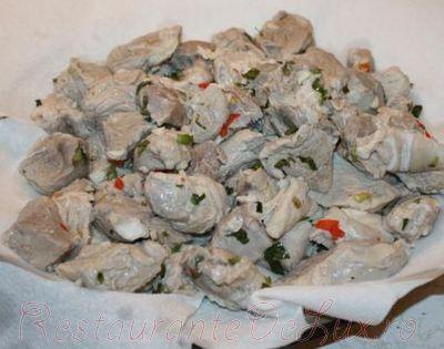 Carne de porc prajita (Pomana porcului)