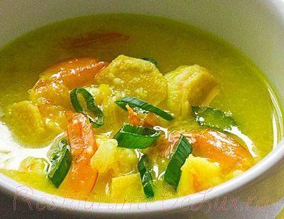 Supa de cocos cu creveti