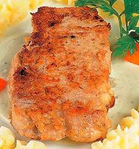 Cotlet de porc pane cu varza calita