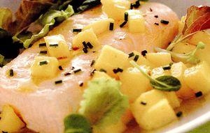 File de somon cu mango