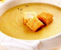 Supa crema de linte cu usturoi si crutoane