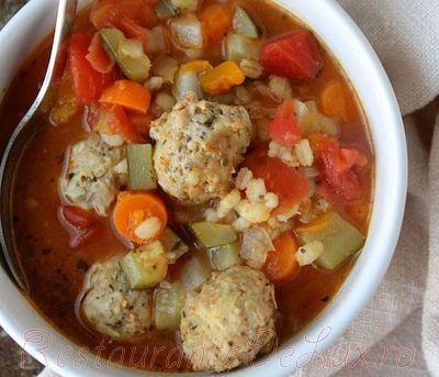 Perisoare de vita cu orez pentru supa