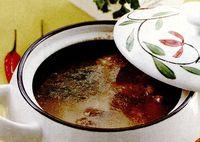 Ciorba de porc cu tarhon si orez
