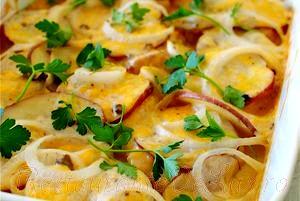 Cartofi cu ceapa si telemea