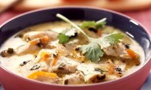 Supa cu piept de pui si orez