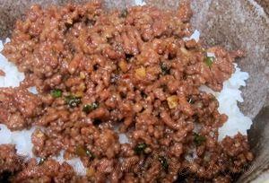 Carne tocata de vita cu sos de soia si orez