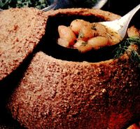 Fasole picanta in paine