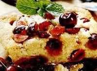 Pandispan cu dulceata de visine