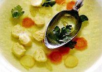 Supa clara cu galuste