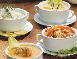 Supă din piept de vită, raţă şi carnăciori