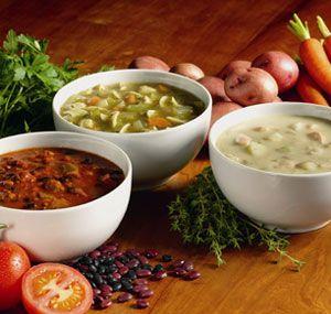 Supa cu gulii si usturoi