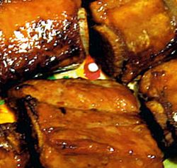 Tochitura de porc cu ficat si usturoi