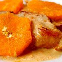 File din piept de pui cu sos de portocale