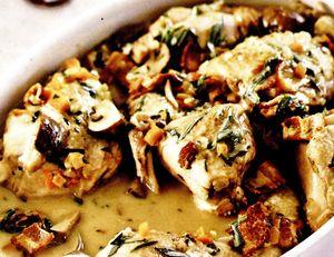 Telina cu ciuperci si vin