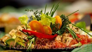 Salata de cod cu orez si legume