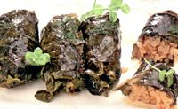 Sarmalute in frunze de spanac