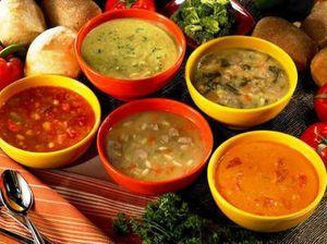 Supa de legume cu branza rasa