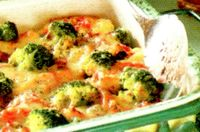 Broccoli cu sunca la cuptor