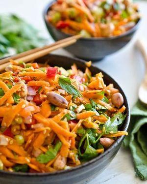 Salata taraneasca de fasole cu usturoi