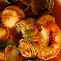 Supa de rosii cu fructe de mare
