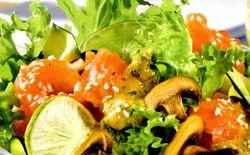 Salata cu somon si smochine