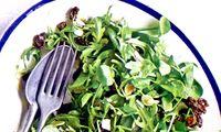 Salata de spanac cu stafide si seminte de pin