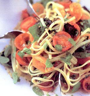 Spaghete_cu_rosii_cherry_si maghiran