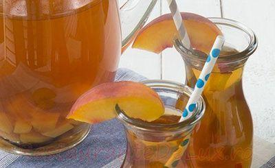 Ceai rece de piersici cu mango