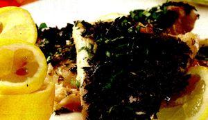 File de peşte prăjit cu ierburi aromatice
