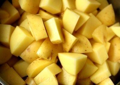 Cartofi cu masline si bulion