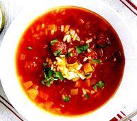 Supa de legume cu sos de rosii