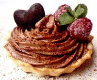 Tarte cu zmeura si crema de ciocolata