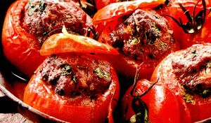 Rosii umplute cu carne si orez